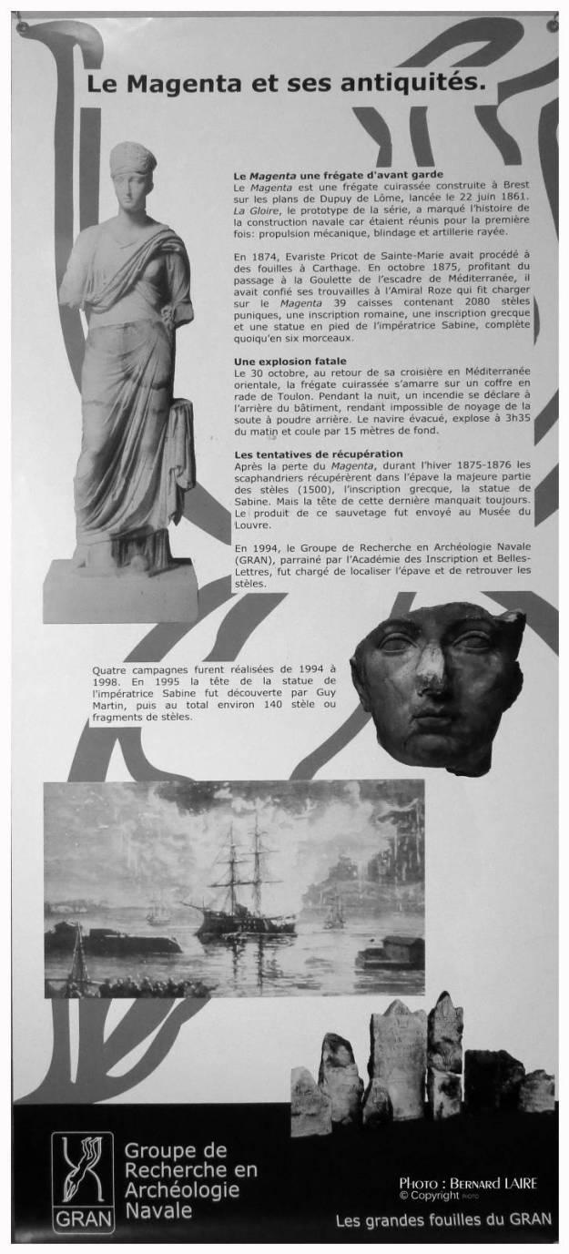 Toulon Les dernières épaves du Magenta Gravure 1876